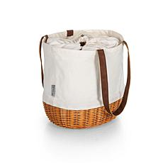 Picnic Time Coronado Basket Tote - Beige Canvas