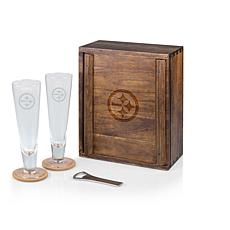 Picnic Time Officially Licensed NFL Beer Glass Gift Set - Pittsburgh