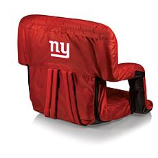 Picnic Time Ventura Folding Stadium Chair-NY. Giants