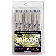 Pigma Micron 6-Color Pen Set Size #05