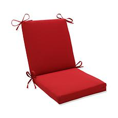 Pillow Perfect Outdoor Pompeii Squared Corners Chair Cushion - Red