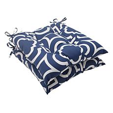 Pillow Perfect Set of 2 Outdoor Carmody Wrought Iron Se