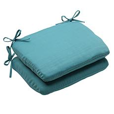 Pillow Perfect Set of 2 Outdoor Forsyth Rounded Corners
