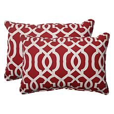 Pillow Perfect Set of 2 Outdoor New Geo Oversized Recta