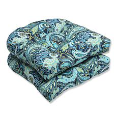 Pillow Perfect Set of 2 Outdoor Wicker Seat Cushions -