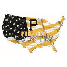 Pittsburgh Pirates USA Shape Flag Cutout