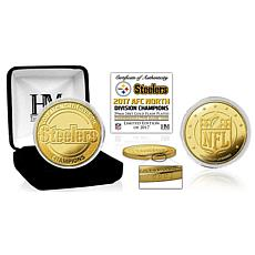 Pittsburgh Steelers 2017 AFC North Division Champions Gold Mint Coin