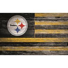 Pittsburgh Steelers Distressed Flag 11x19