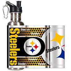 Pittsburgh Steelers Stainless Steel Water Bottle with M