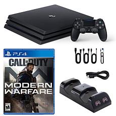 PlayStation 4 Pro 1TB Console with COD Moder Warfare and Dual Charg...
