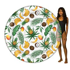 """PoolCandy Giant Tropical 72"""" 2-Person Fruit Island Pool Float"""