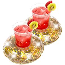 PoolCandy Glitter Drink Float 2-pack
