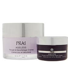 PRAI 1.7oz Ageless Throat & Decolletage Creme w/Promo Size Night Creme