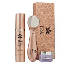 PRAI Ageless Throat Ionic Device Rose Gold Kit