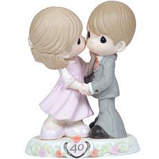 Precious Moments  40th Anniversary Bisque Porcelain Figurine - 113008