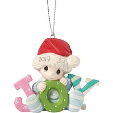 "Precious Moments ""Baby's First Christmas"" 2019 Boy Ornament"