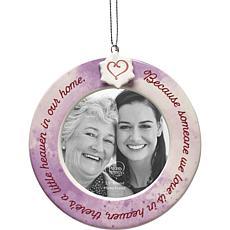 Precious Moments Ceramic Memorial Photo Frame Ornament