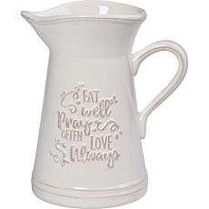 Precious Moments Eat Well Pray Often Love Always Utensil Holder