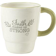 Precious Moments Faith Makes Us Strong Ceramic Mug