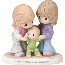 """Precious Moments """"Family Is a Blessing That Lasts Forever"""" Figurine"""