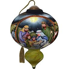 Precious Moments Ne'Qwa Art Blown Glass Nativity Ornament