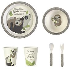 Precious Moments Precious Earth Bear & Sloth Bamboo Mealtime Set
