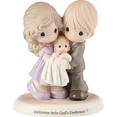 Precious Moments Welcome Into God's Embrace Bisque Porcelain Figurine