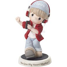 Precious Moments You Give My Heart Rhythm Bisque Porcelain Figurine