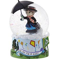 PreciousMoments Disney MaryPoppins Let's Fly a Kite Musical Snow Globe