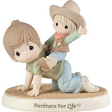 PreciousMoments Pardners For Life Dad&Son Cowboy Porcelain Figurine
