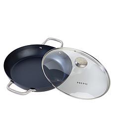 """PrepOn Kitchen 12"""" Carbon Steel Frypan"""