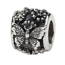 Prerogatives Sterling Silver Butterfly Bali Bead