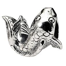 Prerogatives Sterling Silver Fish-Shaped Bead