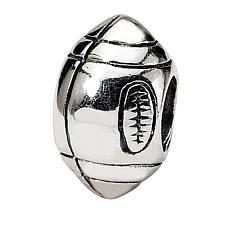 Prerogatives Sterling Silver Football Bead