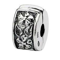 Prerogatives Sterling Silver Hinged Floral Clip Bead