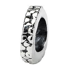 Prerogatives Sterling Silver Notched Floral Spacer Bead