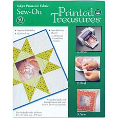 Printed Treasures Sew-On Ink Jet Fabric Sheets - White