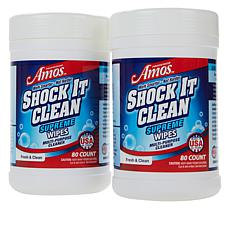 Professor Amos 160-Count Shock It Clean Wipes