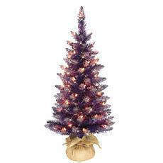 Puleo International 3' Prelit Fashion Purple Artificial Christmas Tree