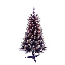 Puleo International 4' Pre-Lit Fashion Purple Pine Christmas Tree