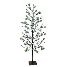 Puleo International 5' Red Berry Led  Tree w/200 White Twinkle Light