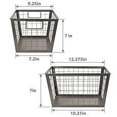 "Puleo International 7"" Durable Multifunctional Wire Basket -  Gray ..."