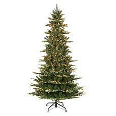 Puleo International 7.5' Pre-Lit Slim Artic Fir  Christmas Tree