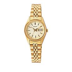 Pulsar Women's Goldtone Coin-Edge Bezel Bracelet Watch