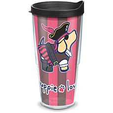 Puppie Love Pirate 24 oz Tumbler with lid