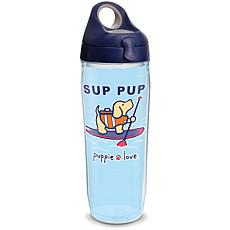 Puppie Love Sup Pup 24 oz Water Bottle with lid