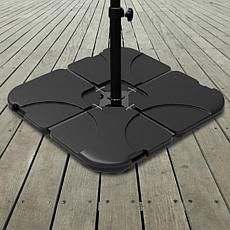 Pure Garden 4-Piece Fillable Weighted Umbrella Stand
