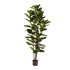 "Pure Garden Artificial Fiddle Leaf Fig Tree 72""H Faux Plant"