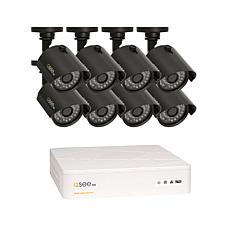 Q-See Security 8-Channel 1TB HD DVR with 8 HD Cameras