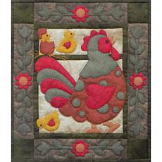 Rachel of Greenfield Spotty Rooster Wall Quilt Kit